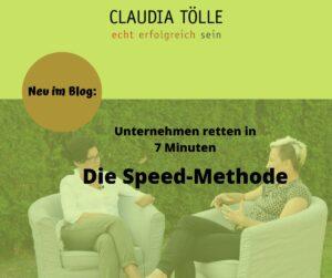 Claudia Tölle und Melanie Moskob in ihrem Blog über die Speed-Methode