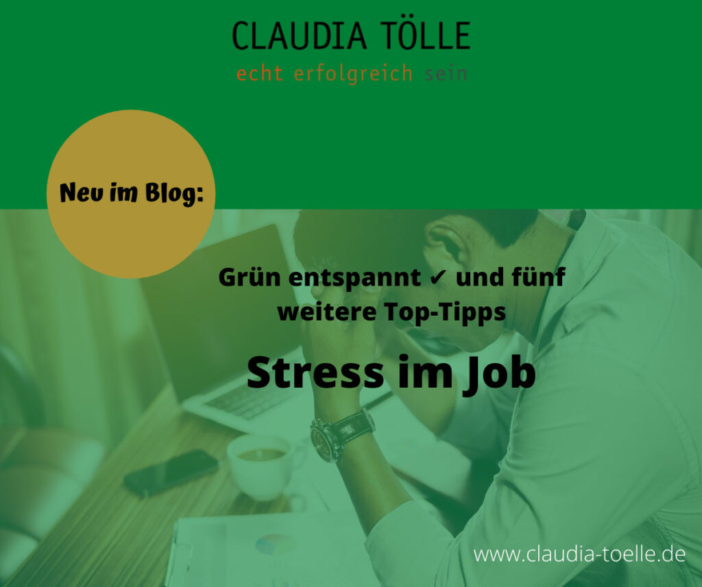 Top-Tipps gegen Stress im Job